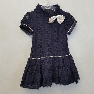 Other - Lace rhinestone mock neck dress (A1)